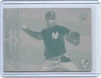 1/1 HIDEKI IRABU 1998 PACIFIC CROWN CARD PRINTING PLATE NEW YORK YANKEES 1 OF 1