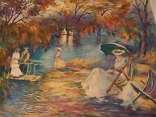"""Sunset on the Lake"" by Zina Roitman  hand-signed embellished serigraph"