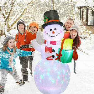 Christmas 1.5M Inflatable LED Light Up Snowman Outdoor Yard Garden Decor Gifts