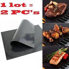 Grill BBQ Matt Cooking Non Stick Barbecue Floor Mat Matte Seasoning Mates TV 2pc