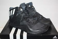 Men's Adidas Crazy Bounce Black/White/Onyx Basketball Shoes Aq7757 Size 13