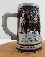 Budweiser Clydesdales Collector Series Anheuser Busch Beer Stein Mug 1989