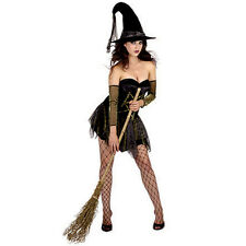 New Scary Sexy Ladies Witchway Costume Naughty Witch Halloween Party Fancy Dress