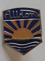 ALBION ENAMEL LAPEL PIN BADGE CAP BADGE