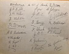 GORDON BOYS PIPE BAND  LG AUTOGRAPHED  BOOK PAGE  DOVER ORPHANAGE