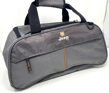 Jeep Authentic Duffle Tote Bag Carry On Soft Travel Gym Gray