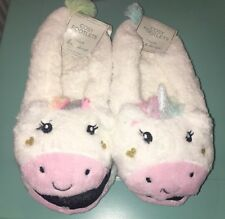 Cute Unicorn Footlet Slippers Size 6 7 8  Ladies Stocking Filler