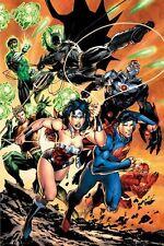 JUSTICE LEAGUE ~ ATTACK 24x36 COMIC ART POSTER JLA DC America Batman Flash