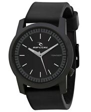 Rip Curl Cambridge ABS Silicone A2698-BLK Black Analog Quartz Watch NEW
