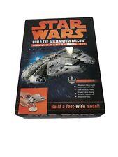 NEW Star Wars Millennium Falcon Deluxe Paper Model Kit, Book, LED Light & Sounds