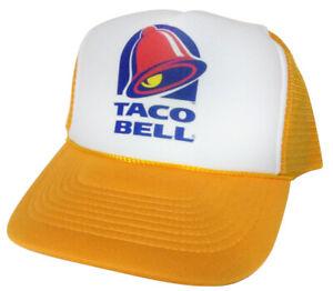 Taco Bell Trucker Hat mesh hat snapback hat yellow New