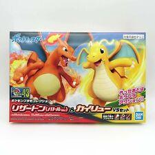 Charizard and Dragonite Pokemon Plamo Model Kit #43 Action figure BANDAI
