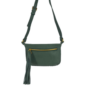Hobo Womens Twig Hip Belt Bag Buff Fanny Pack Green Purse Leather Small