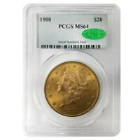 1900 $20 Liberty Head Double Eagle Gold Coin PCGS MS 64 CAC
