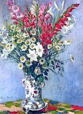 Claude Monet Bouquet canvas print giclee 8X12&12X17 reproduction art poster