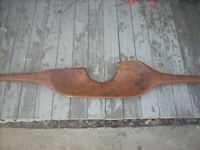 Primitive Hand Carved Wooden Shoulder Yoke for Carrying Water/Sap Buckets