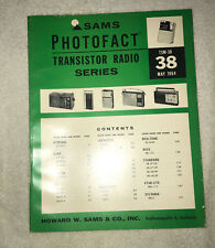 Sams Photofact Transistor Radio Series Volume 38 (1964)