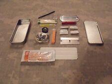Emergency/Survival MINI Survival Kit/Tin:  Fire, Light, Signal, Navigation MORE