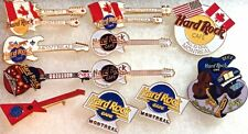 11 Hard Rock Cafe 1990s MONTREAL Canada PIN LOT Guitar Special Event HRC Logos +
