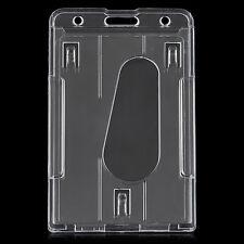 Transparent Vertical Multi ID Card Badge Holder Clear Cover Hard Plastic 10x6cm