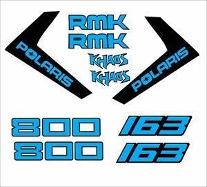 POLARIS RMK AXYS decal GRAPHIC L  800 163 KHAOS RMK LARGE BLUE
