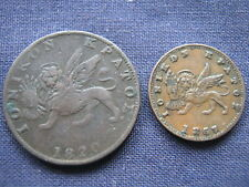 GREECE - IONIAN ISLANDS (2 COINS) - SCARCE