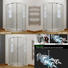 Quadrant Shower Enclosure Walk In Cubicle Glass Door + Tray and Free 90mm Waste
