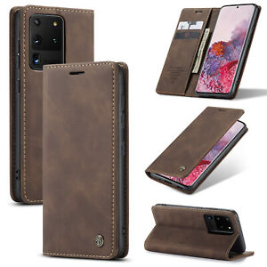 For Samsung Galaxy Note 20 S20+ Ultra Leather Flip Stand Wallet Card Cover Case