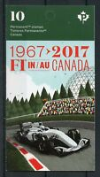 Canada 2017 MNH F1 Formula 1 Racing Senna Schumacher 10v S/A Booklet Cars Stamps