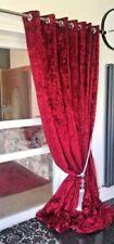Rideaux et cantonnières longueur mesure en velours pour la chambre
