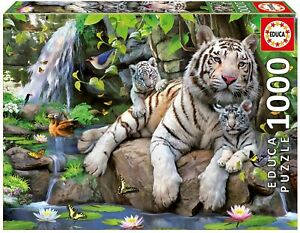 Educa - White Tigers of Bengal Jigsaw Puzzle (1000 Pieces)