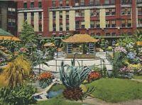 CB-324 GA, Savannah, Japanese Garden, Hotel De Soto, Linen Postcard
