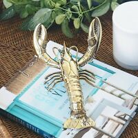 Clawed Lobster Rustic Brass Large 20cm Hamptons Coastal Home Decor