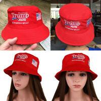 Donald Trump 2020 Keep America Great Cap Embroidered Bucket Hat Women Outdoor