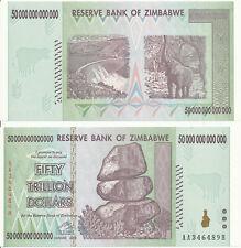 Zimbabwe / Simbabwe [121] - 50 Trillion Dollars 2008 UNC - Pick 90