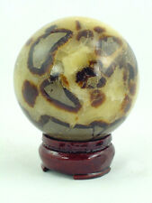 "BUTW Septarian Gemstone Dragon Stone 71mm/2.8"" Lapidary Carved Sphere 0733P"