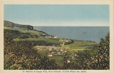 STE MARTHE DE GASPÉ Quebec Canada 1930-40s Carte Postale H.V. Henderson Postcard