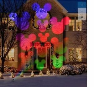 Disney Magic Holiday Mickey Mouse LED Projection Spotlight Color Changing New