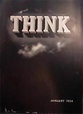 VINTAGE IBM THINK MAGAZINE JANUARY 1954 ISTANBUL TURKEY VERY GOOD COND