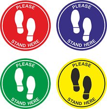 Social Distancing Floor Stickers Please stand here -Non Slip  Queue Place Marker