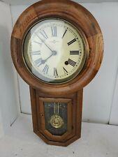 VINTAGE 1910 Seikosha Quartz Regulator Chiming Wall Clock Oak Seiko LOOK!!