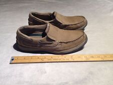 """BASS MEN'S LEATHER """"DUKE"""" CASUAL SLIP ON SHOES US 11M BROWN"""