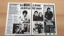 MICHAEL JACKSON /Jane Fonda ARTICLE / clipping from Joepie magazine (Belgium)