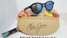 New Authentic Maui Jim LEIA Black Gloss/Blue Hawaii B708-02