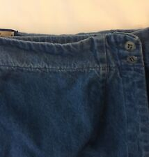 Ruff Hewn Long Denim Modest Jean Adjustable Wrap Skirt With Slit 20W Made in USA