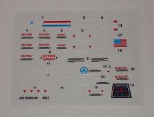 GI Joe HAL H.A.L. Heavy Artillery Laser Sticker Decal Sheet