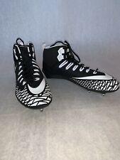 🔥New Men'S Nike Force Savage Pro D 902677 001 Football Cleats Black/White Sz 15