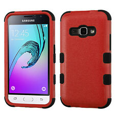 for Samsung 2016 Galaxy J1 Natural Red Tuff Hybrid Case Cover