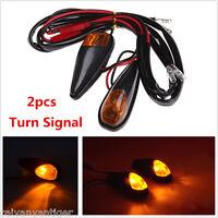 2X Universal Motorcycle Bike LED Turn Signal Blinker Amber light Indicator Bulb
