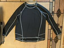 Ll Bean Men's Xxl Reg Midweight Pullover Black keyhole White sewn trim